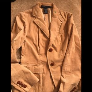 Ralph Lauren fitted stretch cord country jacket